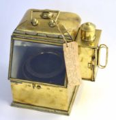 "Late 19th/early 20th century brass binnacle and compass, used on the motor fishing vessel ""Jose"""