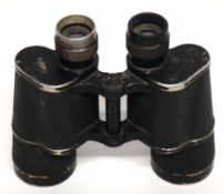 "German WWII Wehrmacht binoculars, marked ""Dienst glas"", 10x50, retrieved from the desert, possibly"