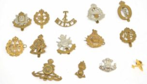 Small quantity of 20th century British military cap badges to include RAF, ATS, Notts & Derby