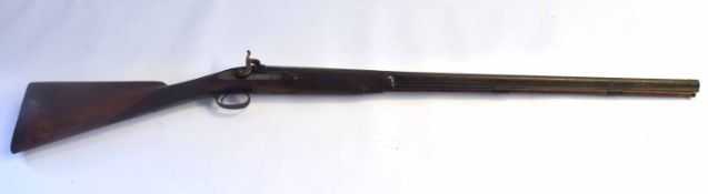 19th century percussion muzzle loading fowling/sporting gun, no proof markings/manufacturer markings