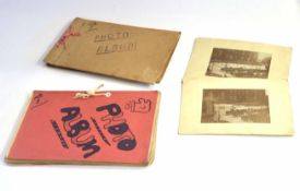 Two personal WWII photograph albums belonging to servicemen as ground crew in the RAF 1940-1946