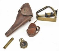 Small quantity of four military items belonging to WWI Lt R Fitton, A59 Royal Field Artillery to