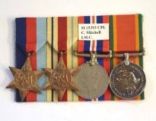 African WWII campaign medal group consisting of 1939-45 Star, Africa Star, 1939-45 medal and African