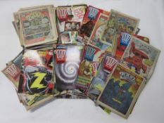 780: Approx 180 2000AD comics circa 1980s, all in good condition