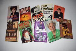 22: 10 titles entertainment auto-bios including FRANK SKINNER, MIKE YARWOOD, JOHN MORTIMER, LESLIE