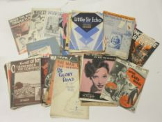 805a: Packet of early sheet music including VERA LYNN and mainly film song sheets, approx 100