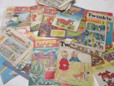 789: One box approx 90 assorted comics including TREASURE, (40) 1963-4 + various other children's