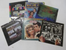 Eight mixed film and TV LPS including MEMORIES OF STEAM, GREASE, WEST SIDE OF STORY, NOT THE NINE