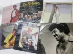 795c: 6 LPS including THE CHI-LITES, STEVE WINWOOD, LUTHER VAN DROSS, STYLISTICS, BILLY OCEAN, O C