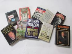 Box: mainly politics, 10 titles including ANTHONY HOLDEN: THE TARNISHED CROWN + H MONTGOMERY-HYDE: