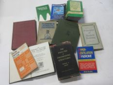 716a: Box of engineering work etc, 11 titles including RADIO AND TELEVISION ENGINEERS REFERENCE BOOK