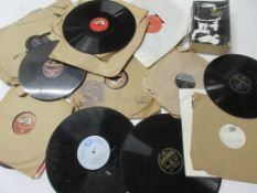 801b: Good quantity of 78rpm vinyl records including 20 large 78s, mostly dance and orchestra