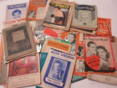 807b: approx 100 assorted mainly 40s and 50s sheet music including FRANK SINATRA, NAT KING COLE,