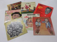 Eight mixed TV and film LPS including CHAS AND DAVE, THE GOON SHOW, THE SOUND OF MUSIC, ALF