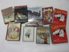815b: Box of vintage girl/children's interest, 9 titles including THE TREASURES OF CHILDHOOD +