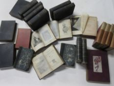 Mixed sets including CHAMBERS MISCELLANY 1870S (5 vols) + SWINBURNE'S POETRY AND TRAGEDIES (10 vols)