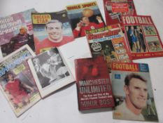 110a: Box of football interest, 23 titles mainly 1960s-90s including SOCCER STAR, August 1968, IAN