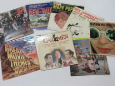 Eight mixed TV and film LPS including CARMEN, MARY POPPINS, THE KIDS FROM FAME, MUSIC FROM BEN HUR