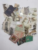 224: Small collection of approx 90 early postcards, Victorian to early Edwardian + approx 20 loose