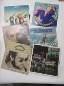 795e: 6 LPS including ELTON JOHN: HONKY CHATEAU, DAVID BOWIE: SPACE ODDITY, ABBA, PUBLIC IMAGE
