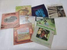 8 LPS including SLIM WHITMAN, THE TRINI COUNTRY DOMINIONS (2), CHARLEY PRIDE, HANK SNOW etc
