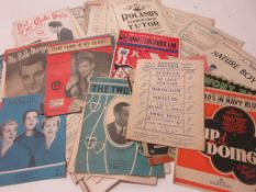 806b: Packet of approx 100 assorted sheet music circa 1940s-1950s