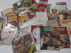 709a: Box of cooking interest including cookery recipes/ephemera, some early 19th century