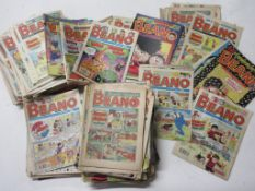 783: Box of BEANO comcis, approx 200 issues, 1976-1999, mainly 1980s