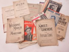 804: One box: assorted sheet music circa 1950s including CYRIL SCOTT, ALBERT W KETTLEBEY: IN A