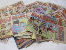 786: Box of approx 200 BEANO comics, mid-1970s - 90s, mainly 1980s