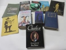 821c: Small box of history interest including EARLY VICTORIAN ENGLAND + CHARLES II etc