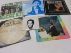 795b: 6 LPS including LUTHER VAN DROSS, BARRY WHITE, CHUCH BERRY'S GOLDEN DECADE, NINA SIMONE,