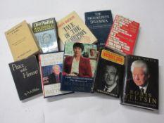 23: Box: politics, 10 titles including HARVEY BARNET: TALE OF THE SCORPION + LEON ARON: BORIS