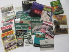 705: Box of car and transport interest including MOTOR SPORT magazine, 11 issues, 1960s-00s +