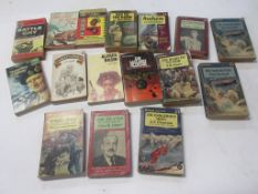 779c: 16 vintage paperbacks, mostly military and war including GORDON POWELL: TWO STEPS TO TOKYO + E