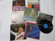 8 LPS including ANDY WILLIAMS: I'M OLD FASHIONED + THE COUNTRY SOUNDS OF FRANKIE LAINE + HENRY