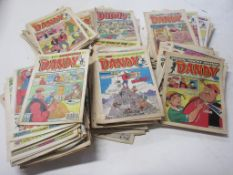 784: One box: assorted DANDY comics, mid-1970s to early 1990s, predominantly 1980s, approx 200