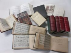 18: Box of music interest including CAESARIS OPERA 2 vols + K D SCHOLL: SELECTED CHORALES FROM THE