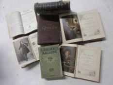 792b: Box of periodicals, 7 titles, mainly 19th century including THE QUIVER, 3 vols, 1885 to 1894 +