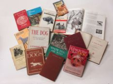 27: Small box: dog interest, 15 titles including THE WORLD ENCYCLOPAEDIA OF DOGS + THE DOG, AN