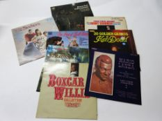8 LPS, all the classics including BOX CAR WILLIE + GREATEST HITS OF JOHANN STRAUSS + KENNY BALL
