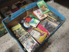 "Two boxes assorted vintage paperback ""Lucky Dip"" including Penguin Classics, ""Pan"" titles, authors"