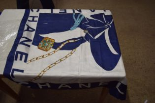 CHANEL SILK SCARF FEATURING IMAGE OF ART DECO STYLE LADY