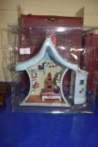 MODEL OF A CHRISTMAS DOLLS HOUSE BY VILLEROY & BOCH WITH ORIGINAL BOX