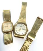 Mixed Lot: comprising two various gold plated and stainless steel Rotary quartz centre seconds