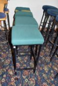Cushioned bar stool, 70cm high x 4
