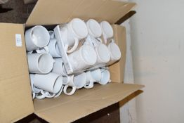 Large quantity of coffee mugs