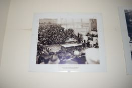 Poster of Joe Davis and Horace Lindrum 1946 World Snooker Championship in London, width 103cm