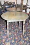 Bar table, width approx 75cm x 68cm high x 4