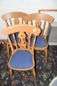 Pine dining chair x 3
